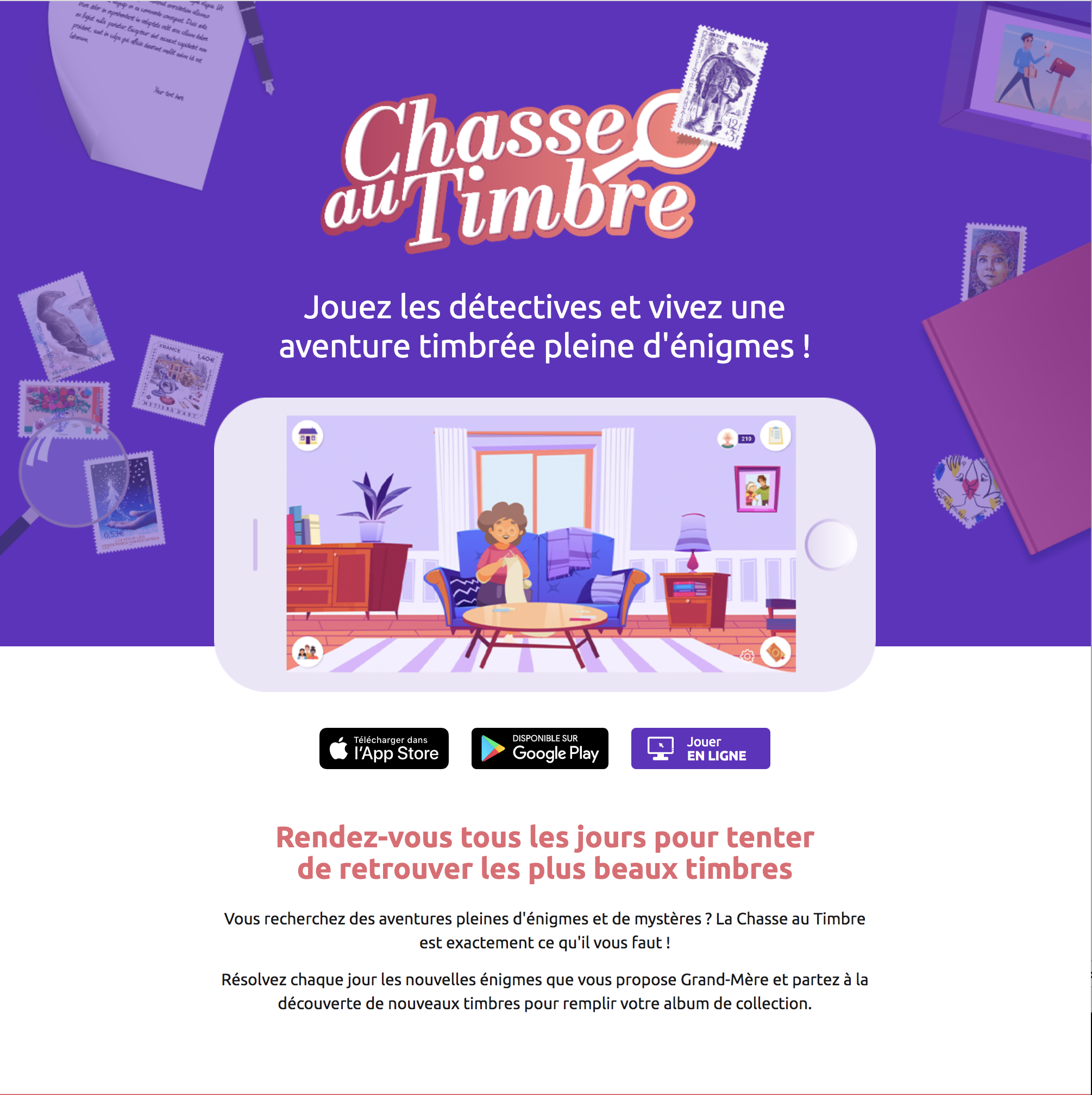 Chasse aux Timbres